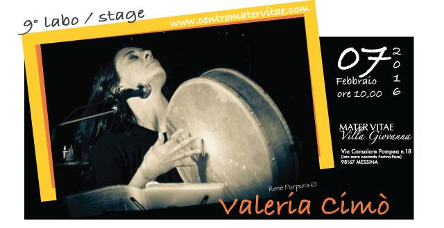 LABORATORIO DI TAMBURELLO con Valeria Cimó - 7 Febbraio