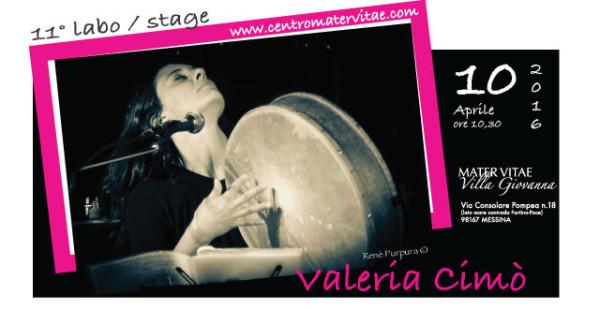Valeria Cimò a Mater Vitae